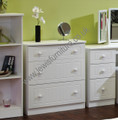 Welcome Furniture - Warwick - 3 Drawer Deep Chest - Choice of Colour