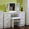 Welcome Furniture - Warwick - Kneehole Dressing Table - Choice of Colour