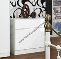 Welcome Furniture Monaco Gloss White 3 drawer chest