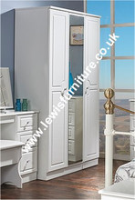 Welcome Furniture - Balmoral White Gloss - Tall Triple Robe