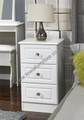 Welcome Furniture - Balmoral White Gloss - 3 Drawer Bedside