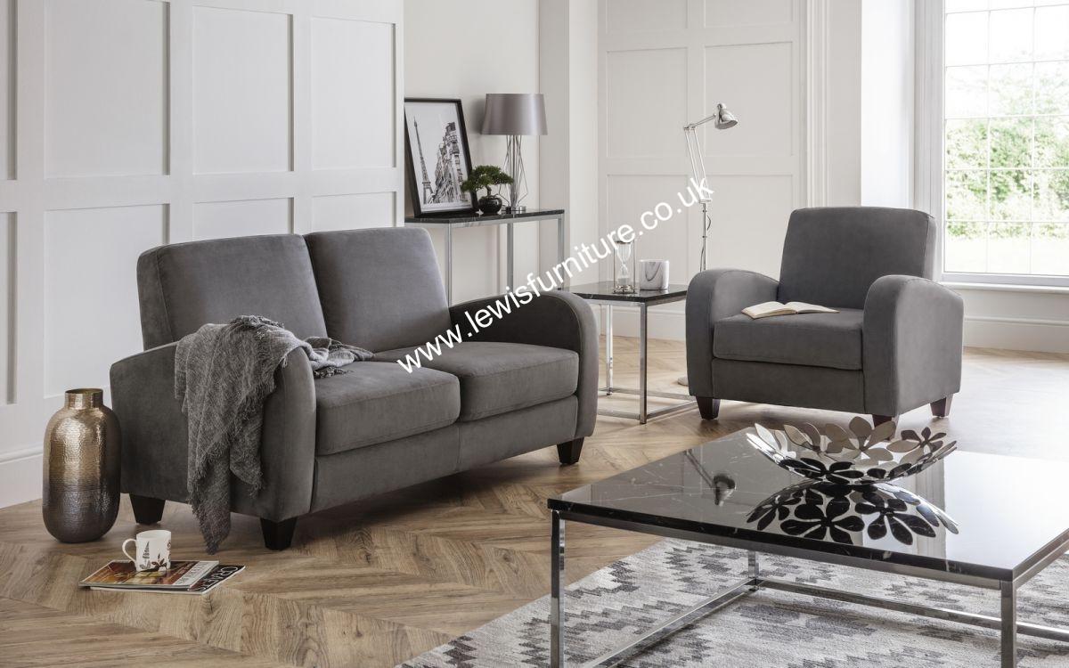 Akia Designs - Barcelona 2 Seater Sofa - Mink Chenille or Chestnut ...