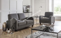 Barcelona Two-seater Sofa Set- Dusk Grey Chenille