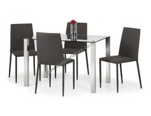 Tempered Glass and Chrome Dining Table