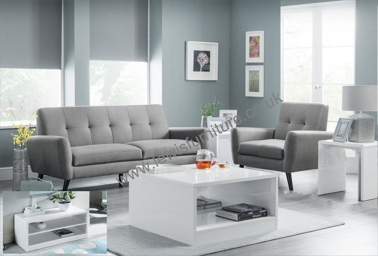 L9 Living Room Pack - 9 seater sofa, armchair, coffee table, lamp table,  media unit
