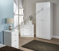 Welcome Furniture - Balmoral White Gloss and Crystal - 3 Drawer Chest