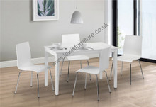 White lacquered dining set