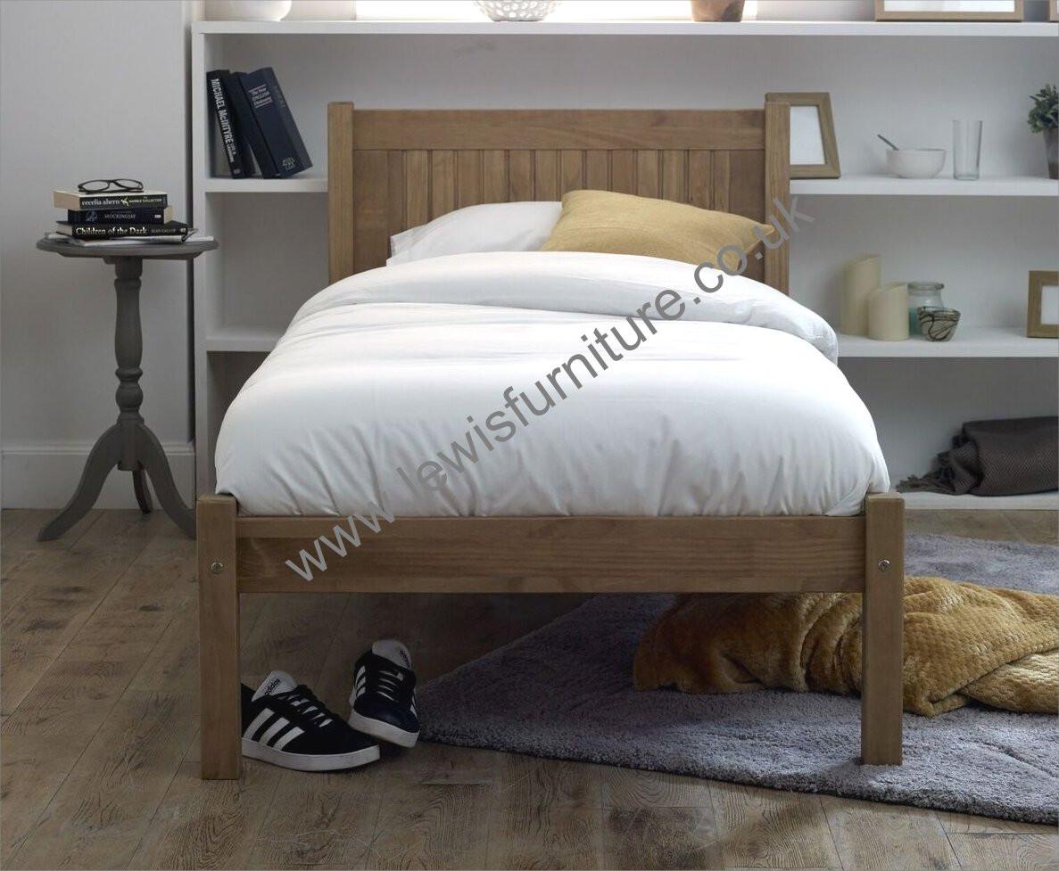 Benard Designs Carrie Bed Frame Rustic Finish Singledouble