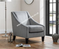 Walton Accent Chair - Grey Velvet Feel Fabric
