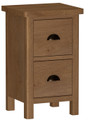 Waterford Medium Oak Range - 2 drawer bedside