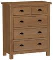 Waterford Medium Oak Range - 2 over 3 drawer chest