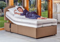 Regency electric adjustable bed shown with classic mattress