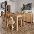 Galway Light Oak 120cm extending dining table with 4 chairs