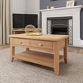 Gina Allen - Galway Coffee Table with Drawers - Light Oak