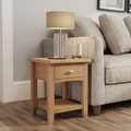 Galway light oak  lamp table with drawer