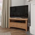 Galway light oak corner tv unit