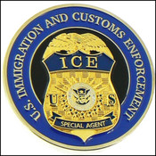 Immigration and Customs Enforcement Challenge Coin - Front
