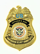 Transportation and Security Administration Officer's Son Mini Badge Pin