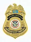 Transportation and Security Administration Officer's Daughter Mini Badge Pin