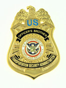 Transportation and Security Administration Officer's Brother Mini Badge Pin