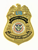 Transportation and Security Administration Officer's Husband Mini Badge Pin