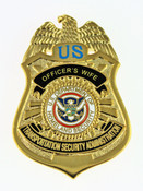 Transportation and Security Administration Officer's Wife Mini Badge Pin