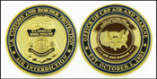 Air and Marine Operations Air Interdiction Badge and Patch Challenge Coin - Front