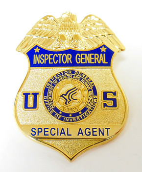 health and human services inspector general special agent mini badge