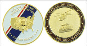 CBP Office of Air and Marine Flag Challenge Coin
