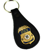 "Department of Homeland Security DHS ""Spouse"" Mini Badge Key Ring"