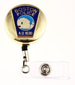 Boston Police Department Mini Patch ID Reel - Gold