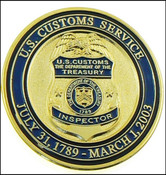 Legacy U.S. Customs Service Inspector Challenge Coin - Front