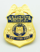 Legacy U.S. Customs Service Mini Badge Lapel Pin