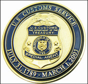 Legacy U.S. Customs Service Special Agent Challenge Coin - Front