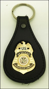TSA K-9 Officer Mini Badge Key Ring