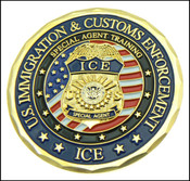 ICE Criminal Investigator Challenge Coin - Front