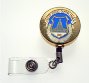 Gold U.S. Capitol Police Patch Retractable ID Holder