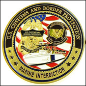 CBP Office of Air and Marine Operations, Marine Interdiction Challenge Coin - Front