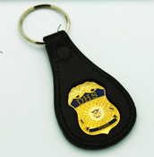 "DHS Federal Emergency Management Agency ""FEMA"" Mini Badge Leather Key Ring"