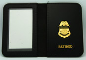 Retired Air and Marine Operations Marine Interdiction Agent Mini Badge Leather ID Wallet