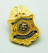Immigration and Naturalization Inspector Mini Badge Lapel Pin