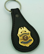 Legacy Immigration and Naturalization Service Special Agent Mini Badge Leather Key Ring