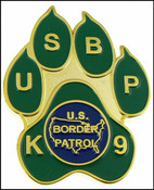 US Border Patrol K-9 Paw Challenge Coin - Front