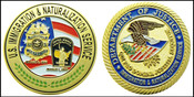 Legacy Immigration and Naturalization Service Inspector Challenge Coin