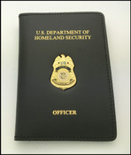 Transportation Security Administration Playbook Mini Badge Credential Case w/DHS & Officer Embossing