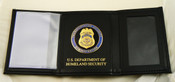 Transportation Security Administration Tri-Fold Wallet, DHS Embossing and TSA Medallion
