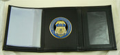 Immigration and Customs Enforcement Tri-Fold Wallet with an ICE Medallion
