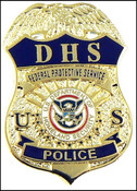 DHS Federal Protective Service Police Mini Badge Lapel Pin - 1.5""