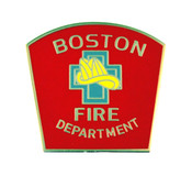 Boston Fire Department Mini Patch Refrigerator Magnet