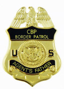 "U.S. Border Patrol ""Agent's Father"" Mini Badge Refrigerator Magnet"
